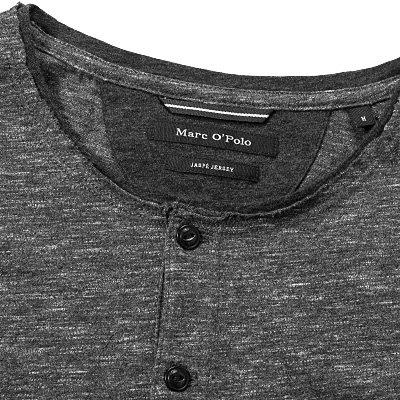Marc O'Polo Herren T-Shirt Baumwolle Shortsleeve Meliert, Größe: XL, Farbe: Grau
