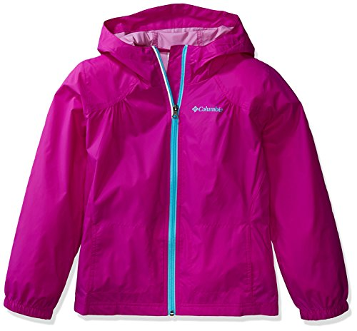 Columbia Girls' Big Switchback Rain Jacket, Bright Plum, Medium