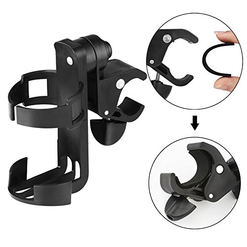 Stroller Cup Holder, Bike Cup Holder by Accmor, Universal 360 Degrees Rotation Cup Drink Holder for Stroller, Bike, Pushchair, Wheelchair, Motorcycle