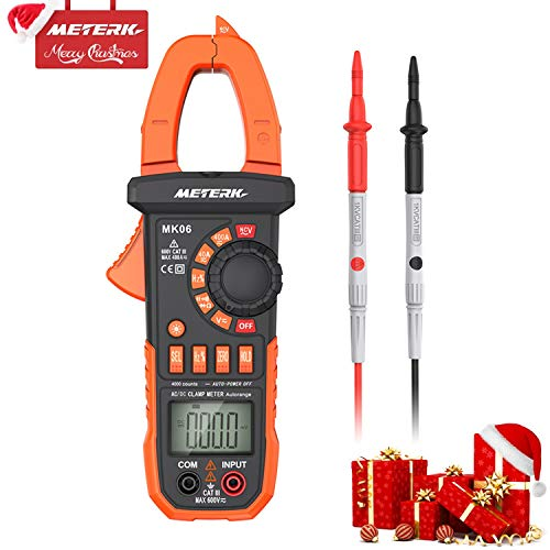 Meterk Digital Clamp Meter Multimeter 4000 Counts Auto-ranging Multimeter AC/DC