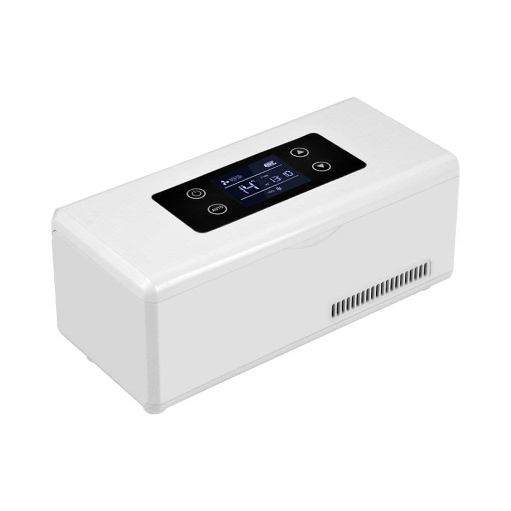 Kühltaschen & -boxen Portable Medication Cooler Box und Insulin-Box Mini-Kühlschrank Für Auto-Insulin-Box Kalt-und Warm Box Insulin-Gefrierschrank und Thermostat-Box (9.25X3.74X3.94Inch)