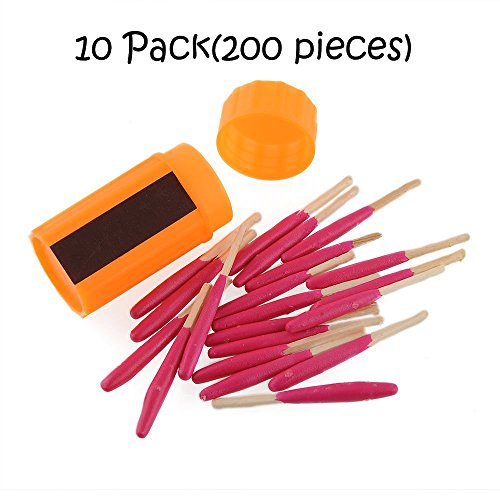 Ezyoutdoor Portable Extra-large Head Windproof Waterproof Matches for Outdoor Survival Emergency Survival Equipment Hiking Camping (10 Pack)