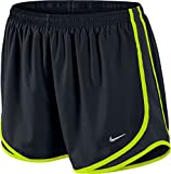 Nike Tempo Track 3.5'' Women's Athletic Short (Black/Black/Volt/Matte Silver, X-Small)
