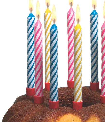 Susy Card 11142908 Kerzen mit Halter, 12-er Set, sortiert