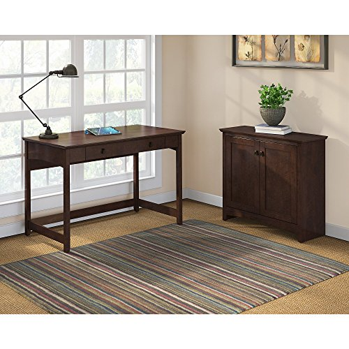 Bush Furniture Buena Vista Writing Desk with Low Storage Cabinet