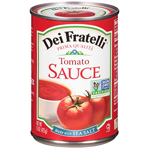 Dei Fratelli Tomato Sauce - All Natural - No Water Added - Never from Tomato Paste - 5th Generation Recipe (15 oz. cans; 12 pack)