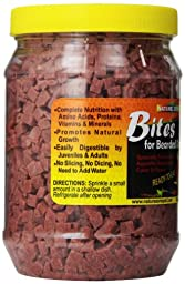 Nature Zone  Bites for Bearded Dragons,  Soft Moist Food, 24-Ounce