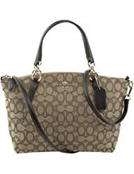 Coach Outlined Signature Small Kelsey in Khaki & Brown
