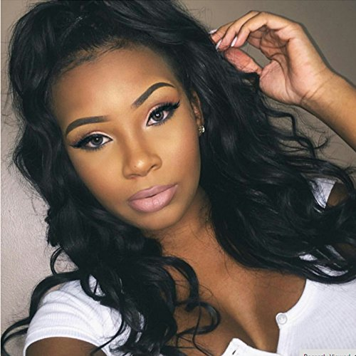 Doubleleafwig Body Wave Lace Front Human Hair Wigs-Glueless 130% Density Brazilian Virgin Remy Full Lace Wigs with Baby Hair For Black Woman 10-26 Inches 1B Color  by Doubleleafwig