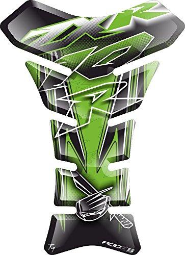 Motorcycle Gas Protector Sticker / 3D Rubber Fuel Tank Pad Tankpad Protector Decal for Kawasaki Zx10r Zx 10r (Kawasaki Zx10r Green)