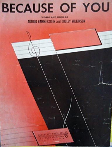 Canada Sheet Music - Sheet Music 1940 Because Of You Arthur Hammerstein 223
