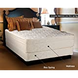 Continental Sleep Mattress,13-Inch Euro Top Pillow Top, Foam Encased,Orthopedic, Assembled, Firm Queen Mattress and Box Spring, Luxury Collection