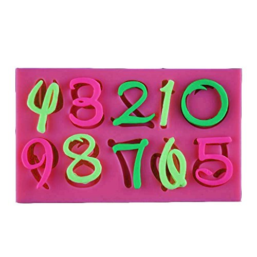 Prona Store New Cartoon Font Capital Letter Number Silicone Mould Chocolate Decorating Tool Alphabet 3D Silicone Cake (Size S 62mm112mm6mm)
