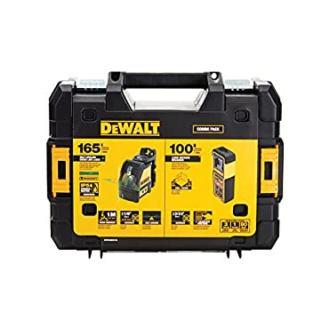 DeWalt DW0889CG TSTAK Laser Kit: DW088CG Cross Line + DW099E 99ft Laser Distance Measurer