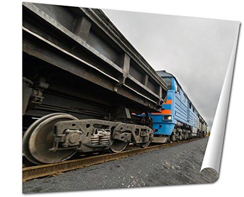rt Print, The Diesel Locomotive Is A Freight Train Polar Tundra Late Autumn Cloudy Day, 16x20, AG6030748 ()