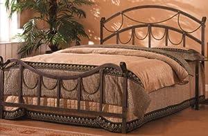 Amazon Com Queen Size Metal Bed Headboard And Footboard