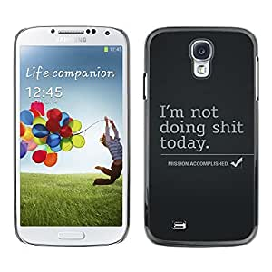 PC/Aluminum Funda Carcasa protectora para Samsung Galaxy S4 I9500 Mission Accomplished; / JUSTGO PHONE PROTECTOR