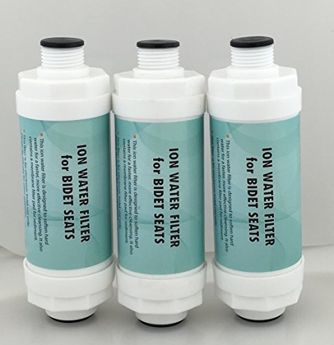 Ion Water Filter For Bidet Seats - 3 Pack