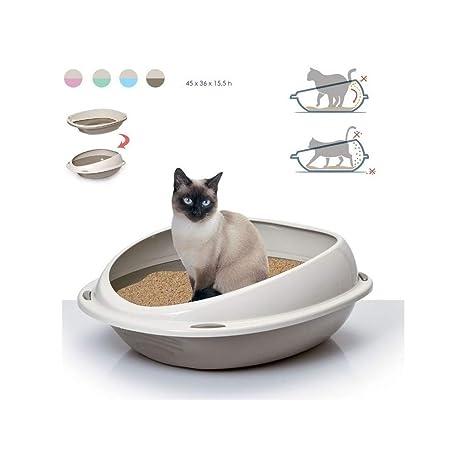 TradeShopTraesio® - Arenero para gato Shuttle, 45 x 36 x 15,5 cm