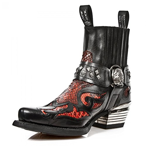 New Rock Boots M.wst005-s2 Urban Biker Hardrock Mens Stivaletti Neri