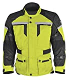 Pilot Men's Trans.Urban Motorcycle Touring Jacket (Hi-Vis/Black, Large)