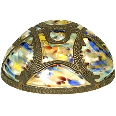 "Meyda Tiffany 22082 9.5"" Victorian Art Glass Gothic Dome Shade,"