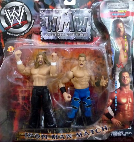 TRIPLE H vs. CHRIS BENOIT - WWE Wrestling Wrestling's Most Wanted Iron Man Match 2 Pack by Jakks (Chris Benoit Best Match)