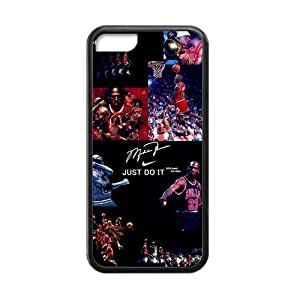 Coolest NBA Chicago Bulls Michael Jordan Apple Iphone 5C Case Cover TPU Laser Technology NIKE JUST DO IT Dunk by ruishername