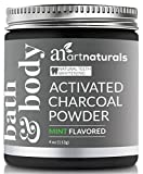 ArtNaturals Teeth Whitening Charcoal Powder - (4 Oz/113g) - Activated Charcoal for a Natural, Non-Abrassive Whitening - Mint Flavored