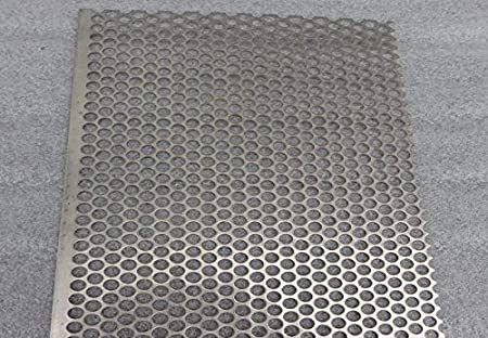 Metal Off Cuts Perforated 304 Stainless Steel Sheet 330mm x 250mm