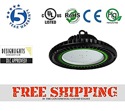 150 Watt LED High Bay UFO Lights -20,000 Lumens- Ultra Efficient 130 Lumens to Watts - Sleek design and more efficient -