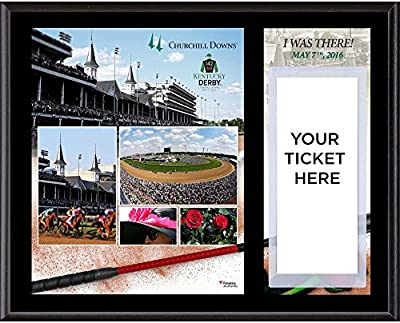 """Kentucky Derby 142 12"""" x 15"""" Sublimated I Was There Ticket Plaque - Horse Racing Plaques, and Collages"""