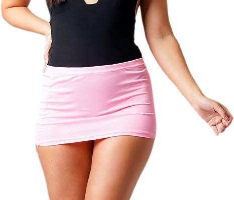 Falda Ajustada Sexy de Licra para Mujer, microelástica, Falda ...