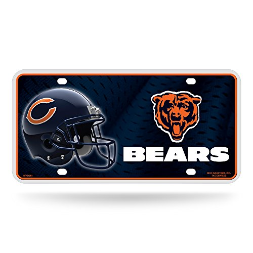 - NFL Chicago Bears Metal License Plate Tag