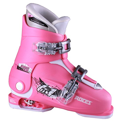 Roces Idea Up G Girls Ski Boots - 19-22/Deep Pink (2 Buckle) by Roces