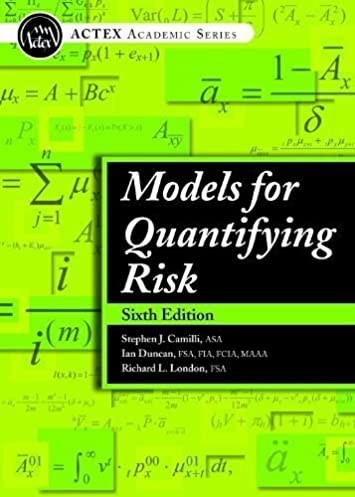 models for quantifying risk 6th edition richard l london rh amazon com models for quantifying risk solutions manual pdf Quantifying Risk Credit