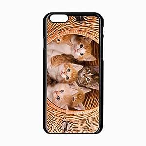iPhone 6 Black Hardshell Case 4.7inch kittens basket kids Desin Images Protector Back Cover