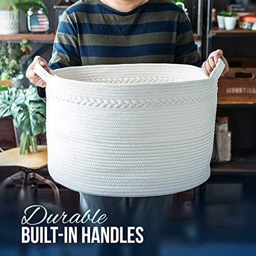 - Extra Large Cotton Rope Storage Baskets 21.7