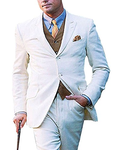 Leonardo Dicaprio Great Gatsby 3 Piece White Suit