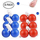VC-Time Ladder Toss Ball, Ladder Toss Ball Ladder Balls Bolos Bolas Ladder Golf With Real Golf Balls, 6 Pack Red and Blue Toss Ball