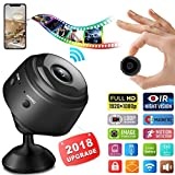 Mini Hidden Spy Camera, 1080P HD WiFi Hidden Camera Wireless Security Cameras/Nanny Cam/Surveillance Camera with Video Recorder Motion Detection Night Vision for Home Car Office iPhone (Black)