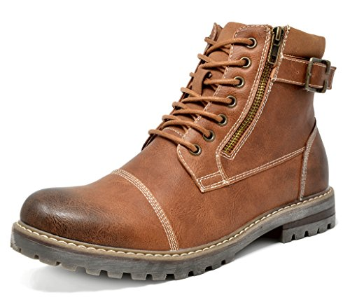 bruno-marc-mens-engle-05-brown-motorcycle-combat-oxford-boots-size-9-m-us