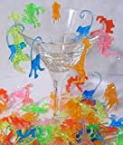 Plastic Mixed Animal Cocktail Drink Markers/Charms (72)