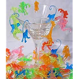 Plastic Mixed Animal Cocktail Drink Markers/Charms