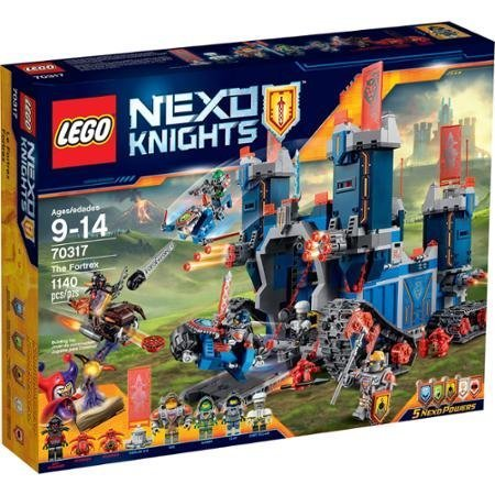 LEGO Nexo Knights The Fortrex with Movable Arms, Ladders, Toolkit, Frying Pan, Cup, Chicken leg, 3 Helmets and Chef Eclair's Chef by Nexo Knights