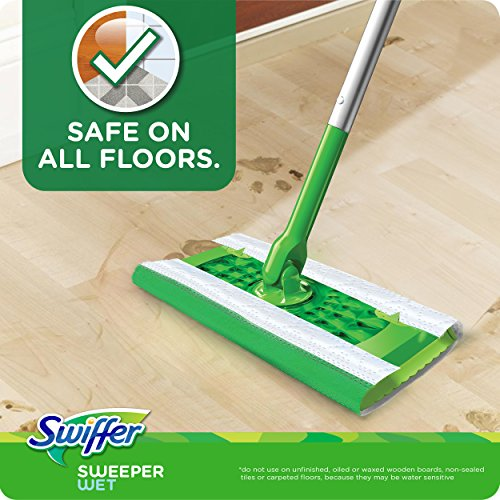 Swiffer Sweeper Wet Mopping Pad Refills for Floor Mop Gain Scent 24 Count>