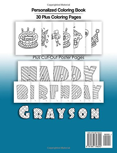 Grayson\'s Birthday Coloring Book Kids Personalized Books: A Coloring ...