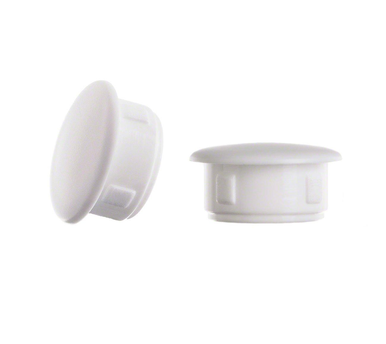 25 pcs bouchons pour trous de fixation 13x8 blanc Bouchons Capuchon Bouchons en plastique