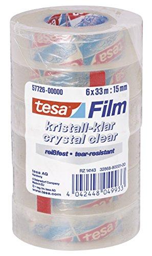 tesafilm, kristall-klar, 33m x 15mm, Vorteilspack mit 6 Rollen