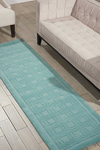 Nourison Westport  Aqua Runner Area Rug, 2-Feet 3-Inches by 7-Feet 6-Inches (2